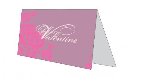 Valentine Card inside page
