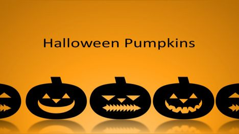 Scary Halloween Pumpkins PowerPoint Template