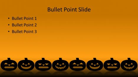Scary Halloween Pumpkins PowerPoint Template inside page