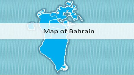 Bahrain Map PowerPoint Template
