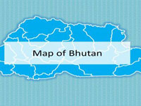 Bhutan Map PowerPoint Template thumbnail