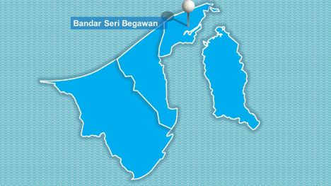 Brunei Map PowerPoint Template inside page