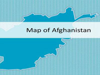 Afghanistan Map PowerPoint Template thumbnail