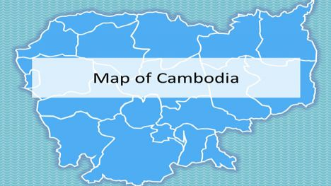 Cambodia Map PowerPoint Template