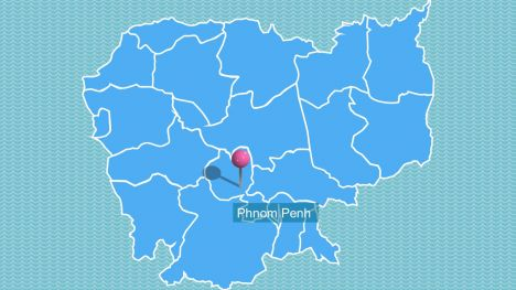Cambodia Map PowerPoint Template inside page