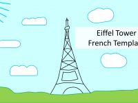 Eiffel Tower French PowerPoint Template thumbnail