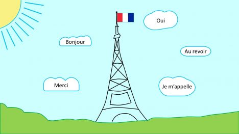 Eiffel Tower French PowerPoint Template inside page