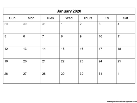 graphic regarding Printable Calendar 2020 identify No cost 2020 printable calendar template (Sunday Start off)