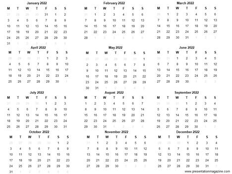 Calendar 2022 Template.Free 2022 Printable Calendar Template