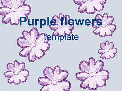 powerpoint backgrounds flowers. Purple Flowers