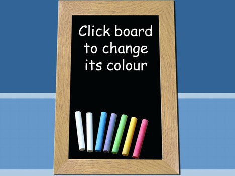Included are images of the chalks in a vibrant background.
