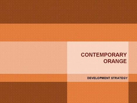 Contemporary Orange PowerPoint Template ug109MaP