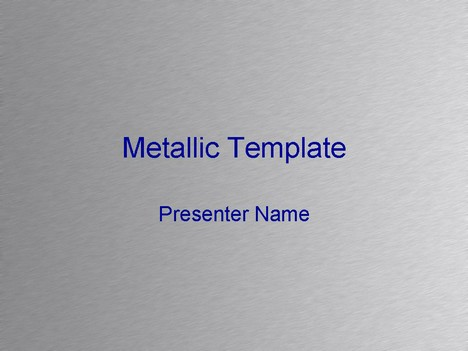 Metallic Background PowerPoint Template