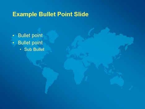 Business world map template slide2