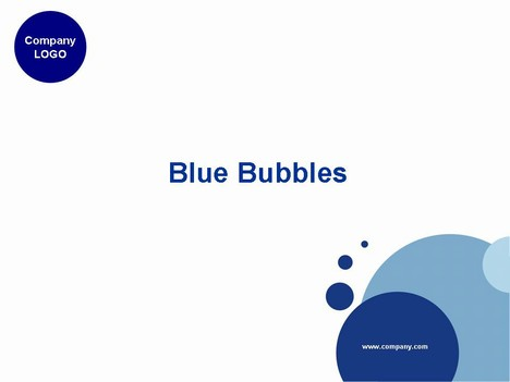 Rather a nice Blue Bubble template on a white background. Could be ...
