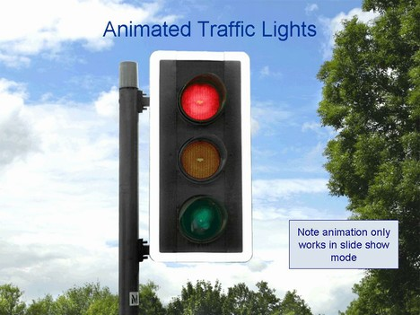 Traffic Lights Animated Template