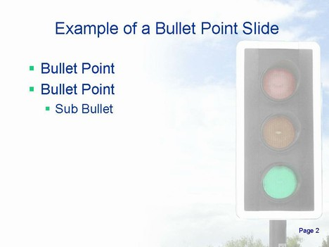 Traffic Lights Animated Template slide2