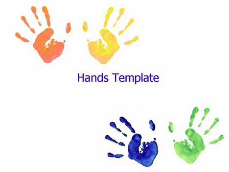 highly effective hands template showing a number of child hand