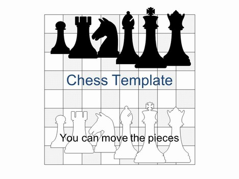Chess Set PowerPoint Template