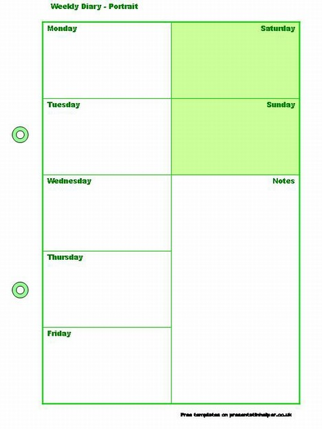 Weekly Diary Template slide2
