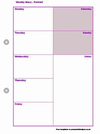 Weekly Diary Template slide4
