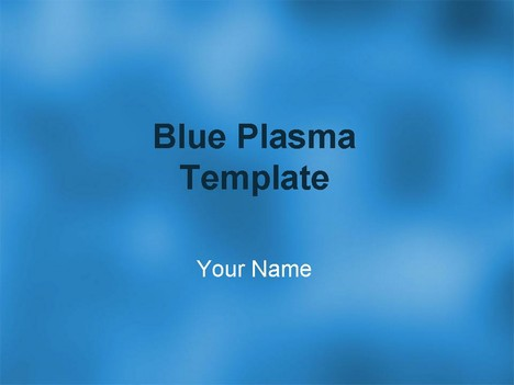 powerpoint templates blue. Blue Plasma Template