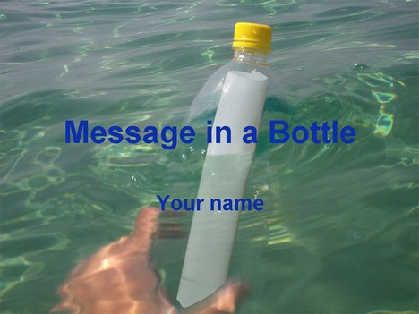 Message in a Bottle Template