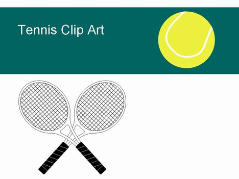 Free Tennis Clip Clip Art ball shoes racket PowerPoint Template