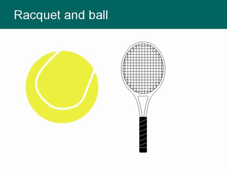 Free Tennis Clip Clip Art ball shoes racket PowerPoint Template slide2