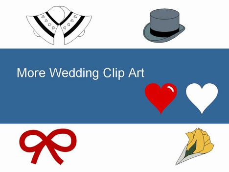 More free Wedding Clip Art PowerPoint Template