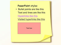 Sticky note template slide4