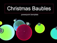 Baubles Christmas Template