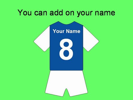 Football Shirts Template 592 on Printable Colour Primary And