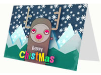Rudolf the Red-Nosed Reindeer Card