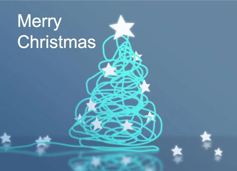 Corporate-Style Christmas Card PowerPoint Template