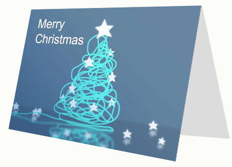 Corporate-Style Christmas Card PowerPoint Template slide2