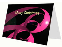 Christmas Ribbons Festive Card