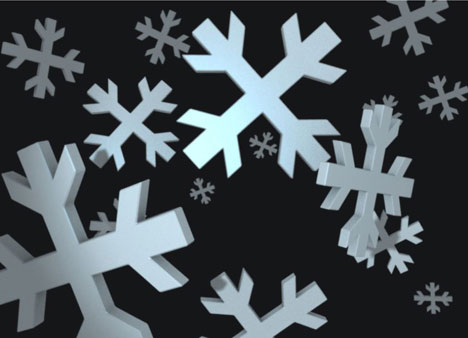Snowflakes 3D Card PowerPoint Template