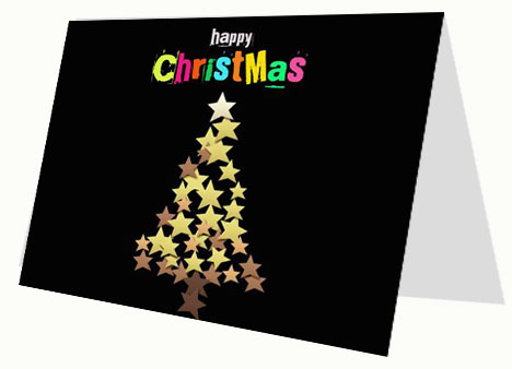 Happy Christmas Card PowerPoint Template slide2