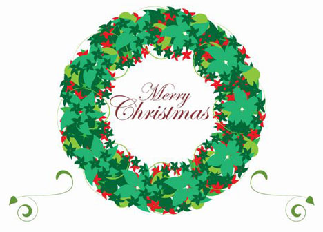 wreath clip art design picture decorated christmas wreath with ...