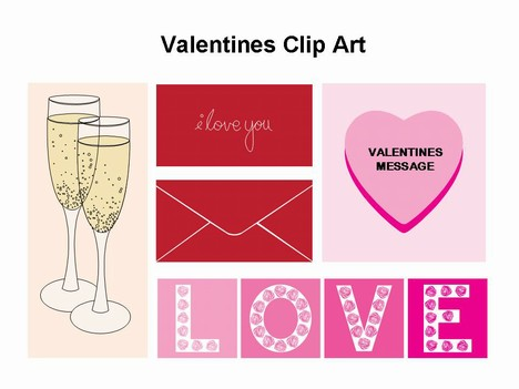 Valentine's outlines PowerPoint Template