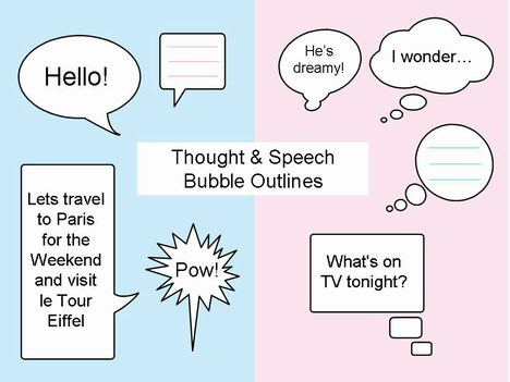 Thought and Speech Bubbles Clip Art PowerPoint Template