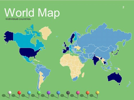 World Maps Vector Editable Updated