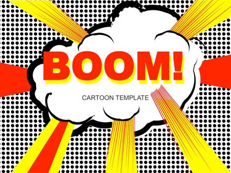 comic book template powerpoint - cartoon pop art template
