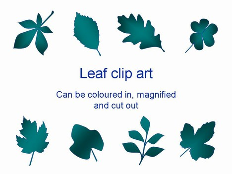 Free Leaf Clip Art PowerPoint Template