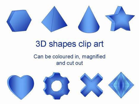 3D Shapes Clip Art