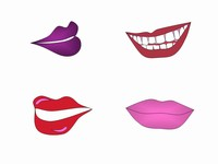 Lips Clip Art PowerPoint Template slide3