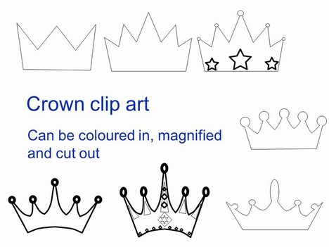 ... looking to create your own crown in either an outline or to colour in