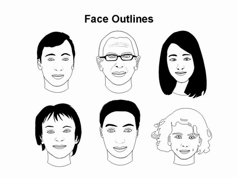 Face Outlines Template