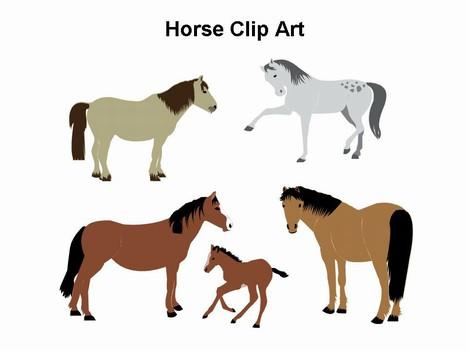 Horse Clip Art Template